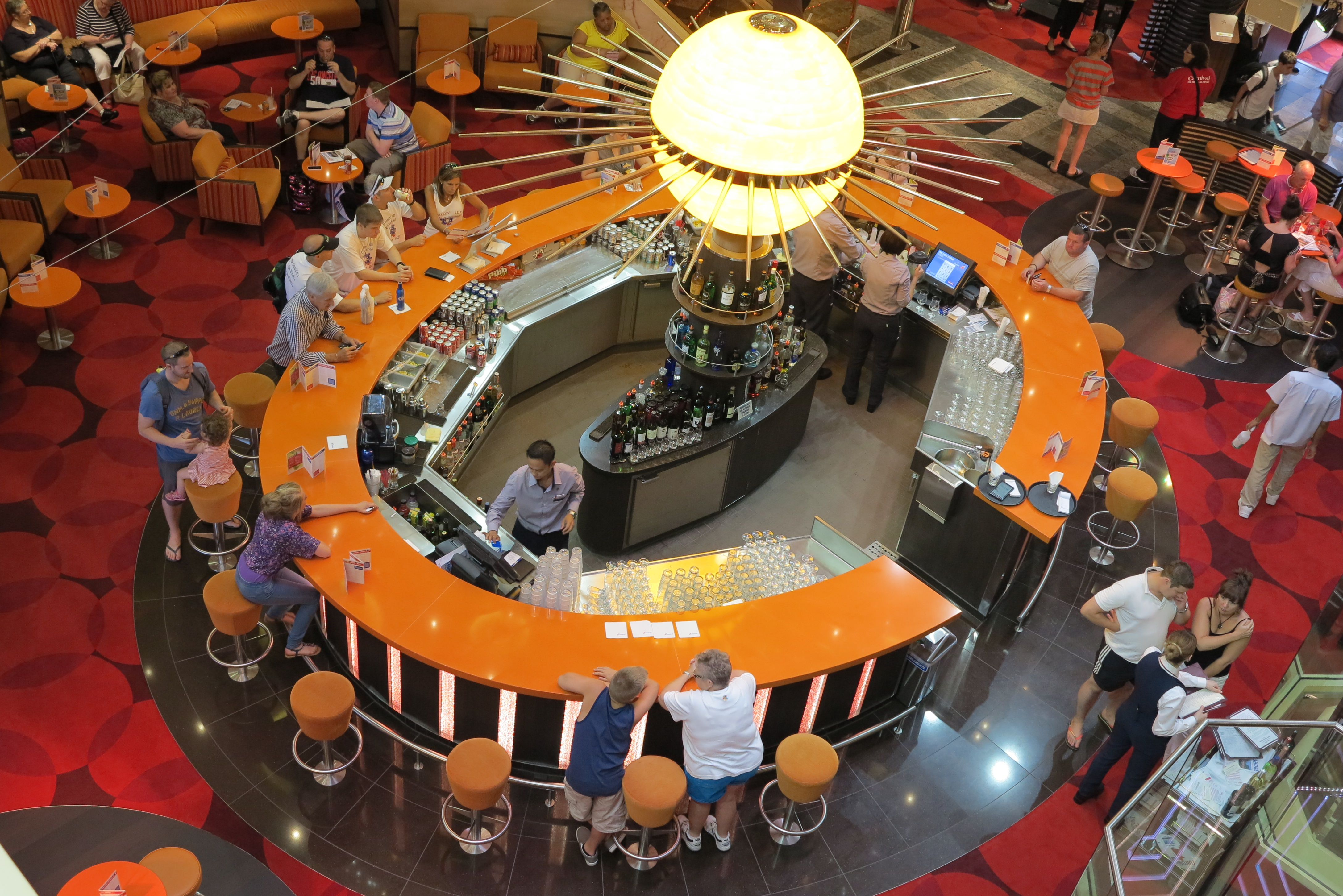 At the centre of things: The atrium bar
