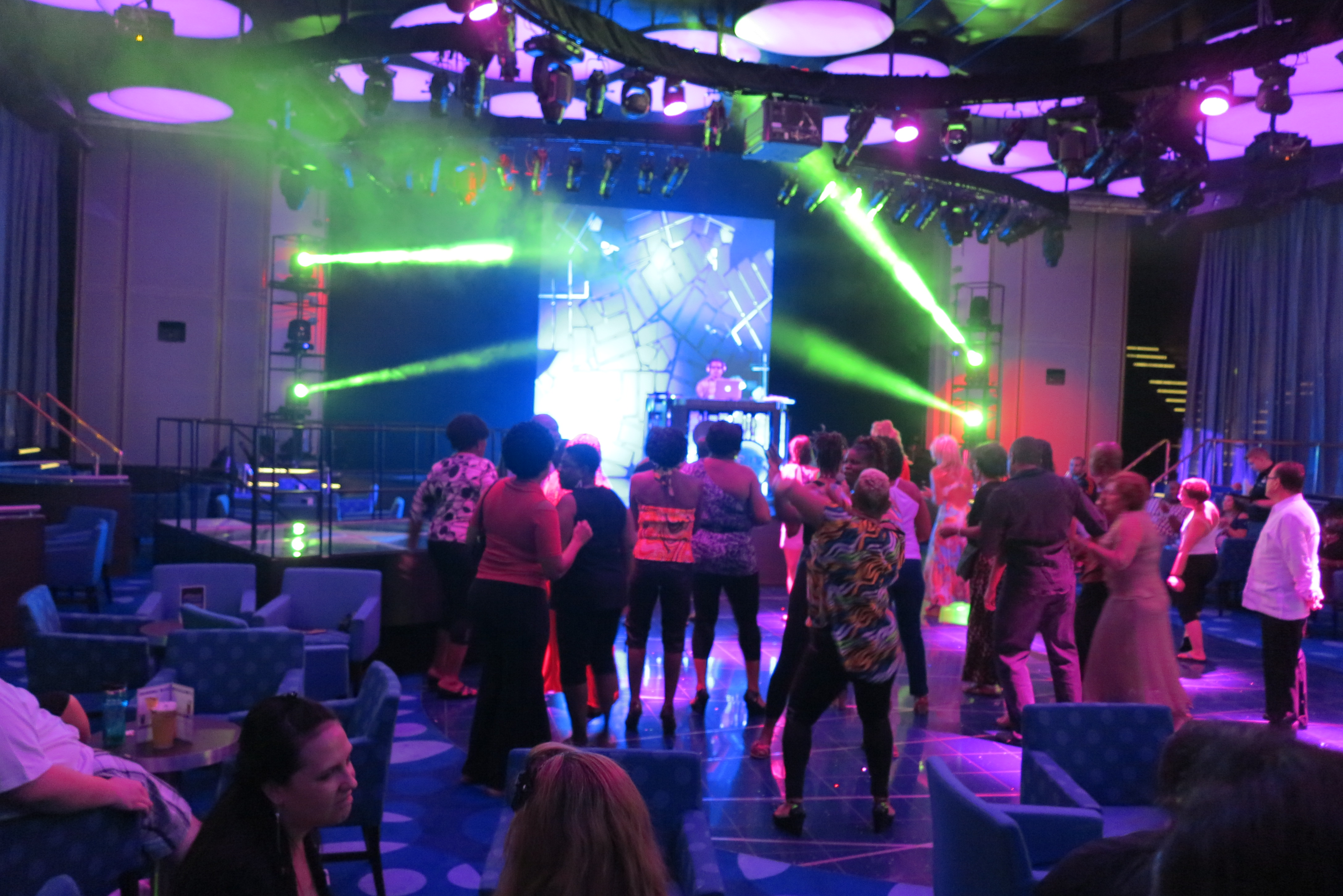 Dancing the night away: The evening ends at the Liquid Lounge night club. What will tomorrow bring?