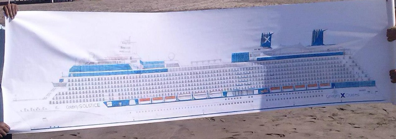 Saul's drawing of Celebrity Solstice (Picture: Saul Tenorio Rodriguez)
