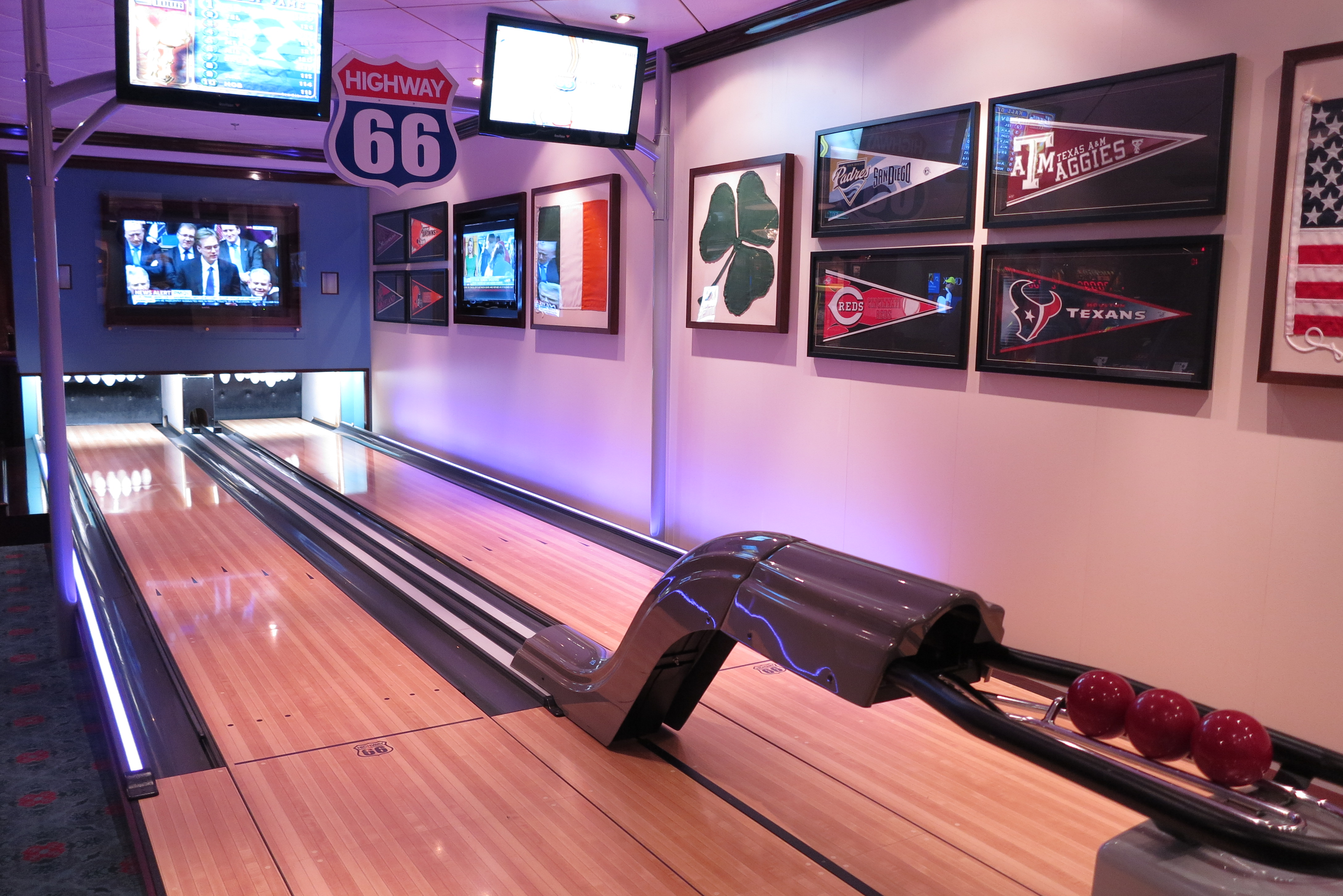 Striking: The bowling alley (Picture: Dave Monk)