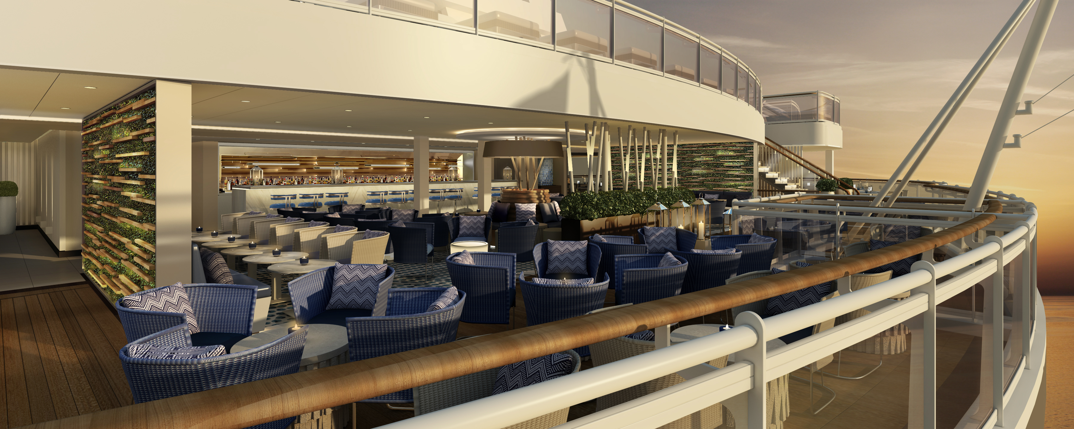 Dining al fresco: The Lido at the rear of the ship (Picture: P&O Cruises)