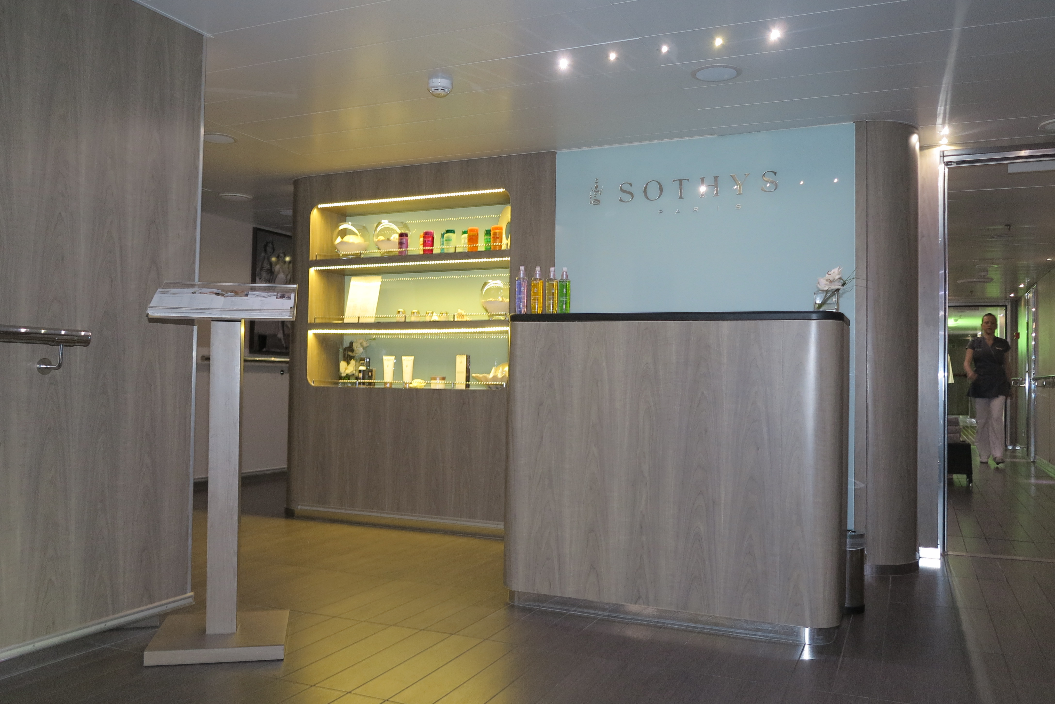 Time to be treated: The entrance to the spa