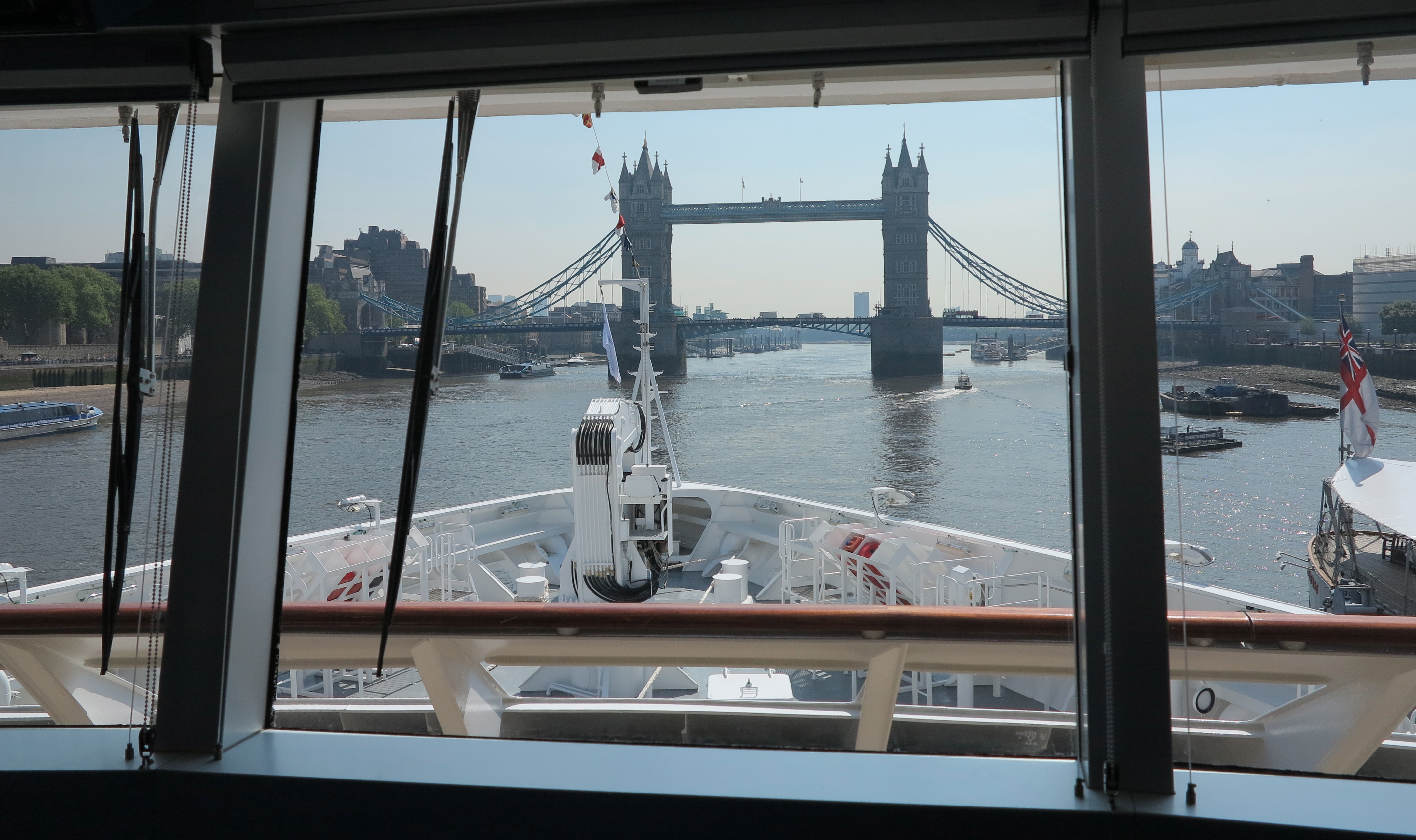 Bridge view: Passengers can enjoy the same view as the captain simply by knocking on his door