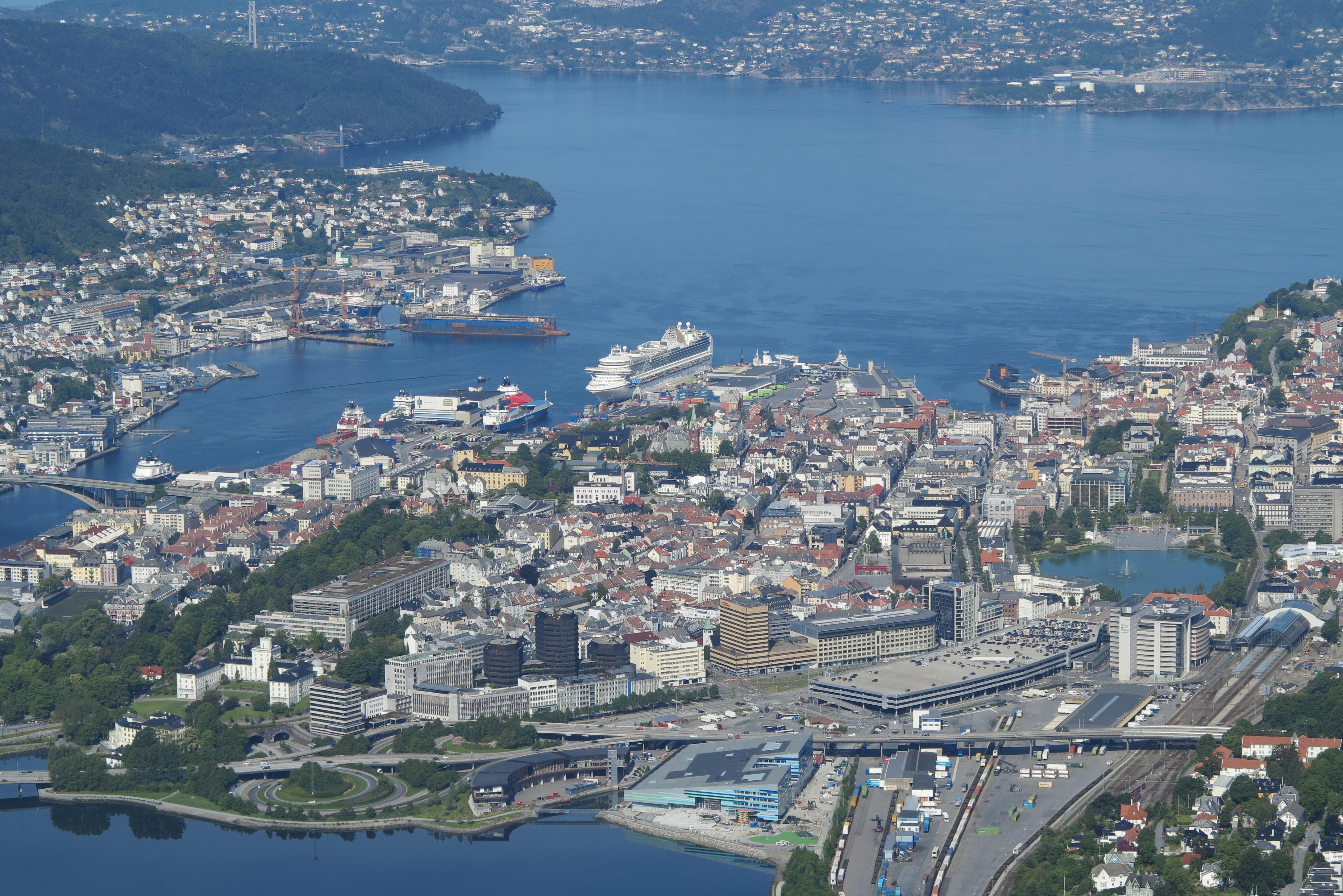 Peak viewing: Bergen as seen from the top of Mount Ulriken