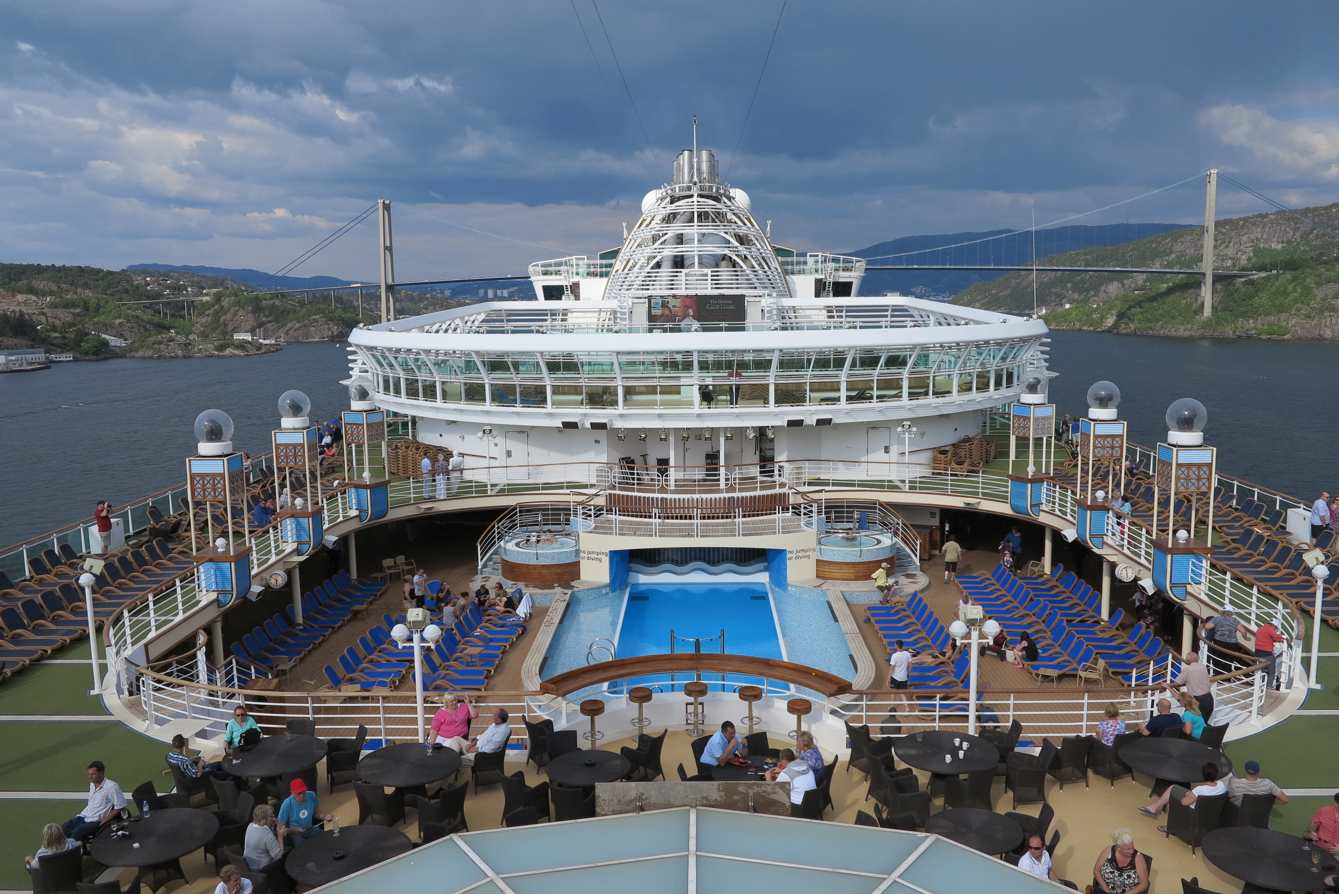 Bergen and ships: Azura sails away from our first port of call