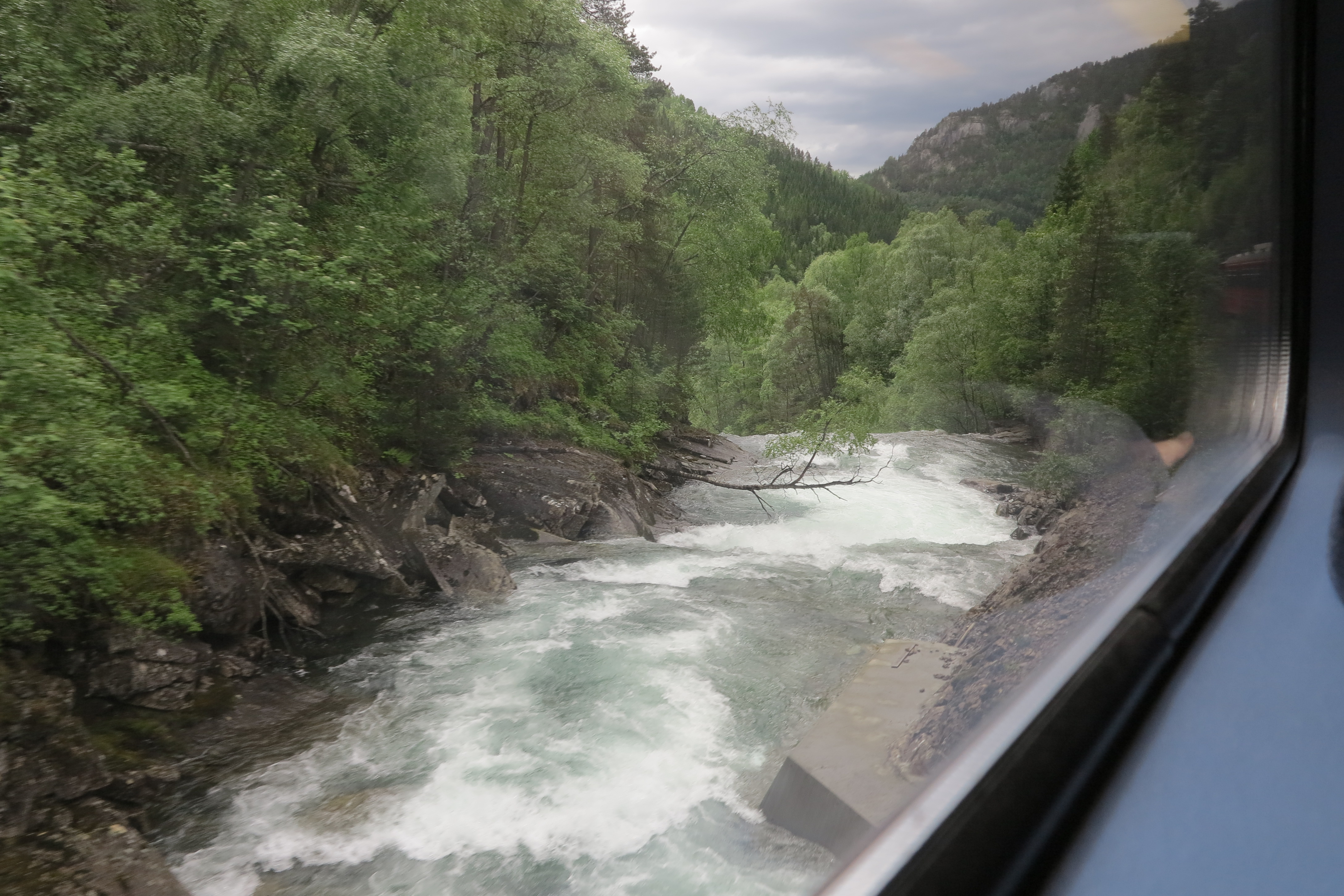View from a train: One of the many sights from the railway between