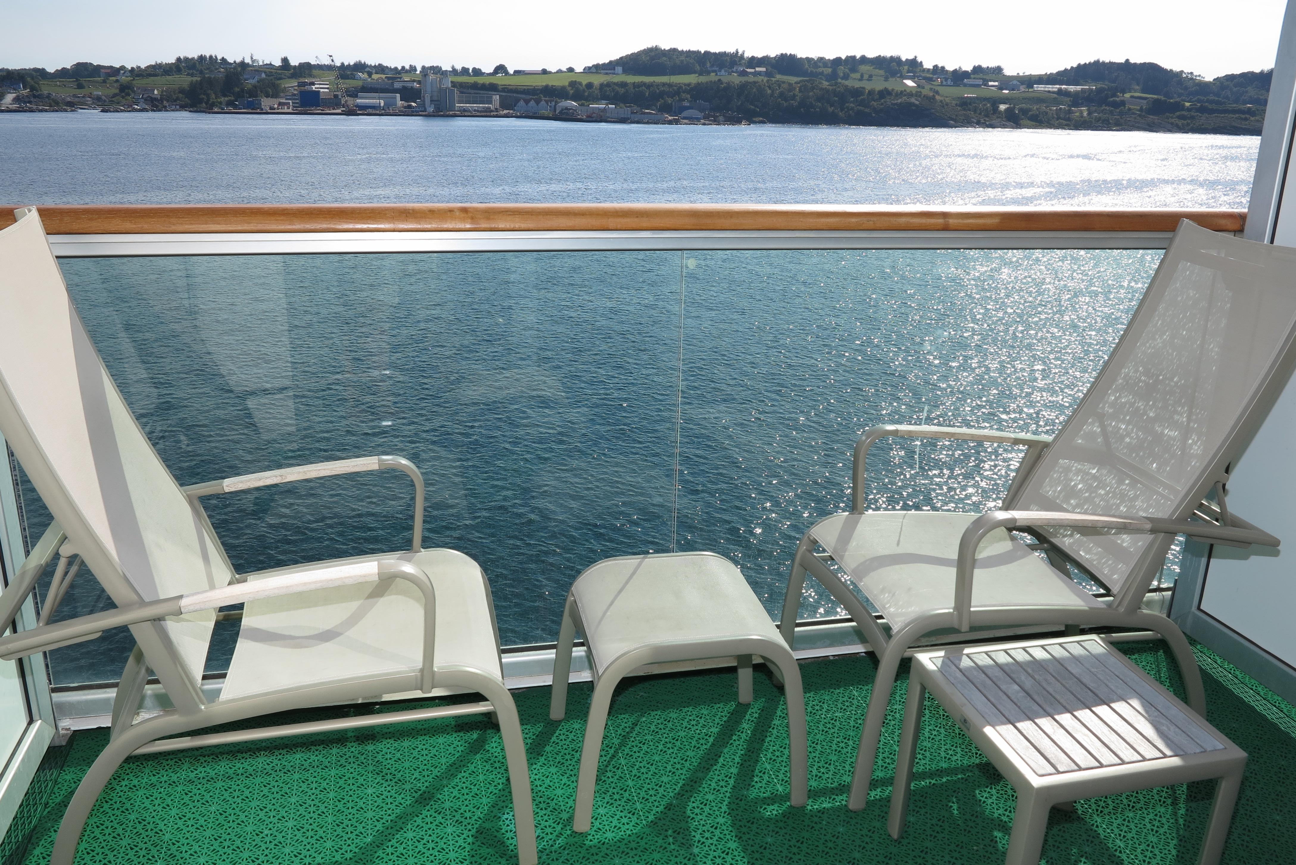 Sun spot: Having a balcony is a great advantage in good weather