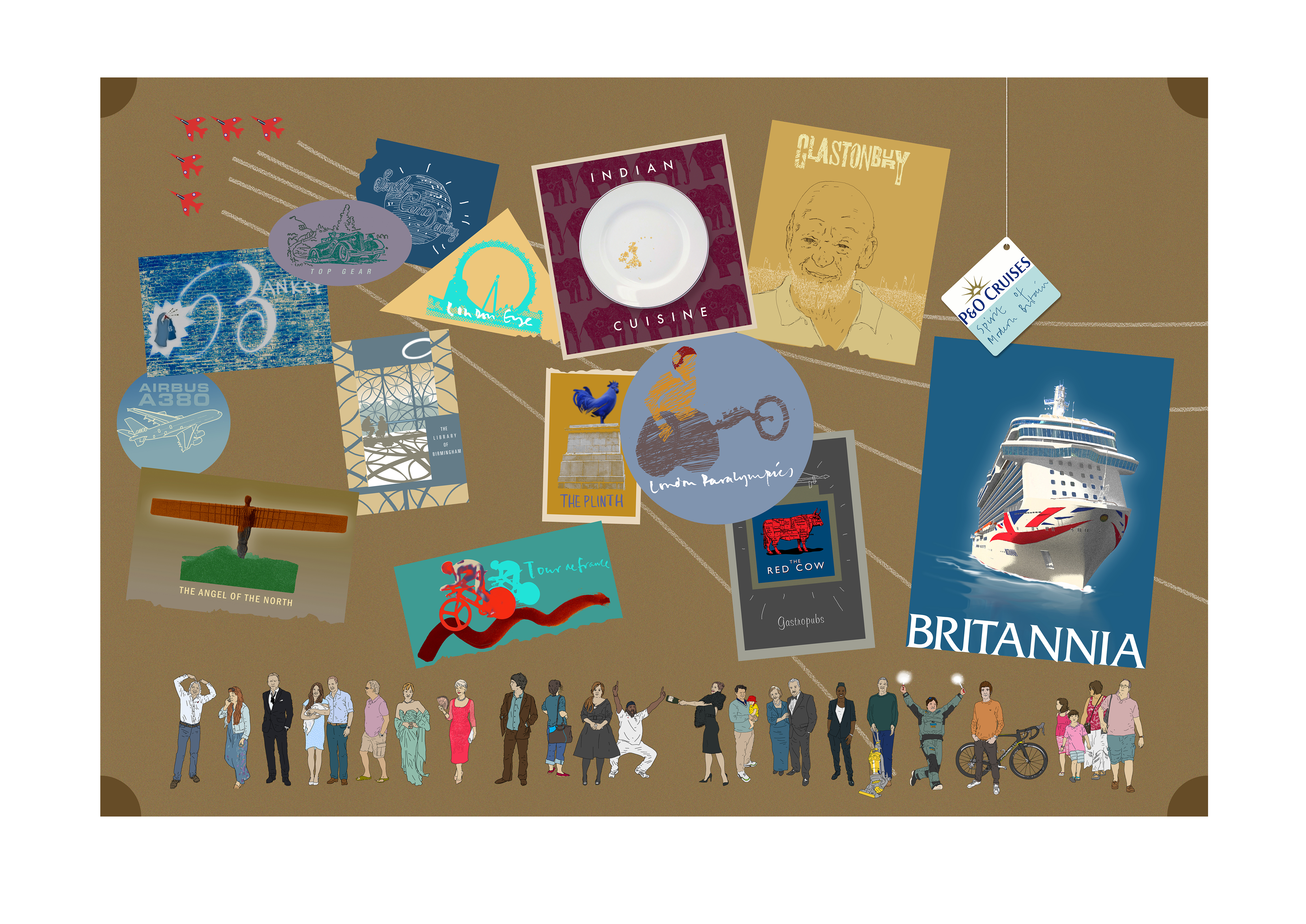 National treasures... Indian cuisine, the Angel of the North and Banksy