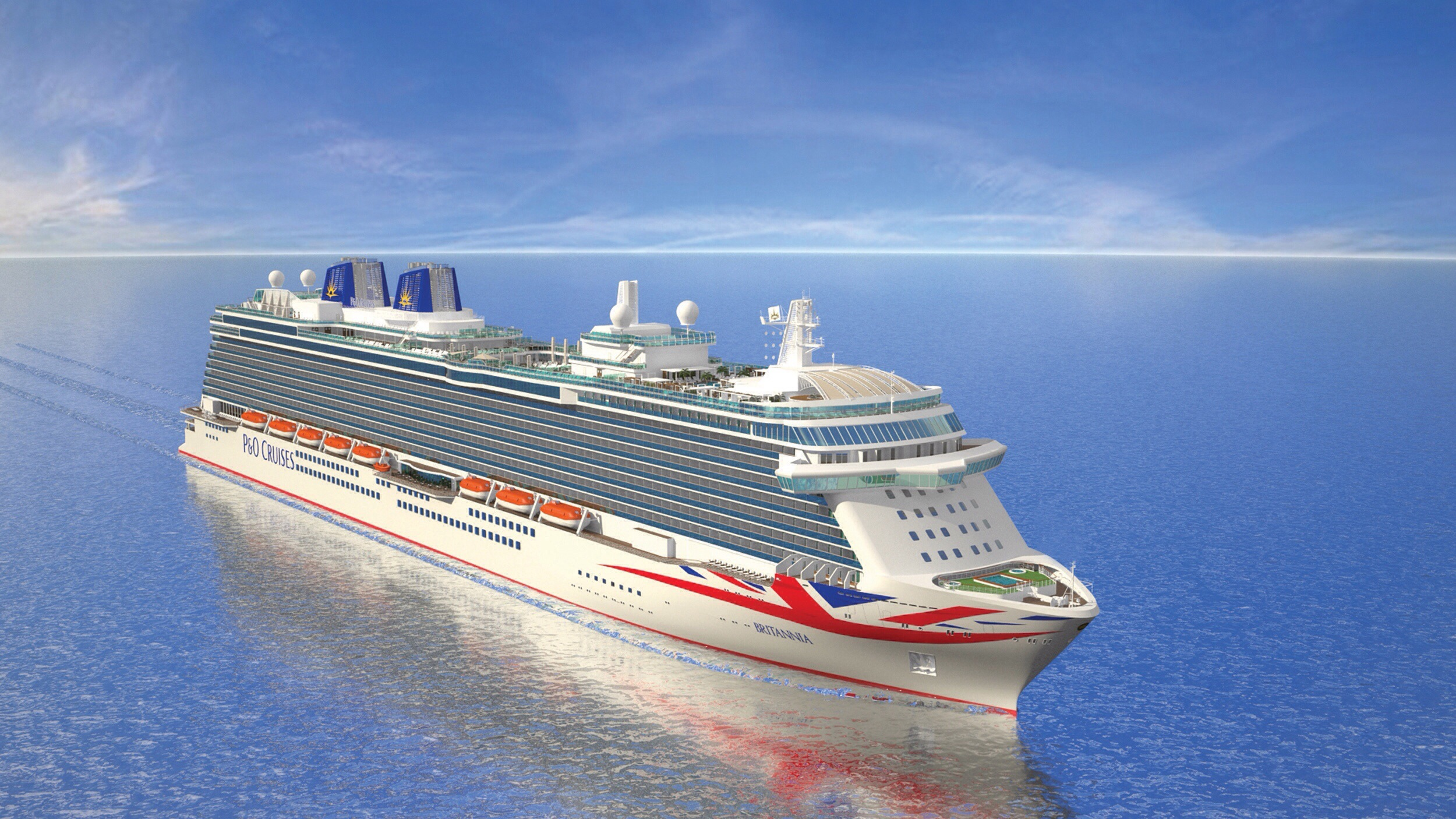 Flying the flag: Britannia will show off its British heritage