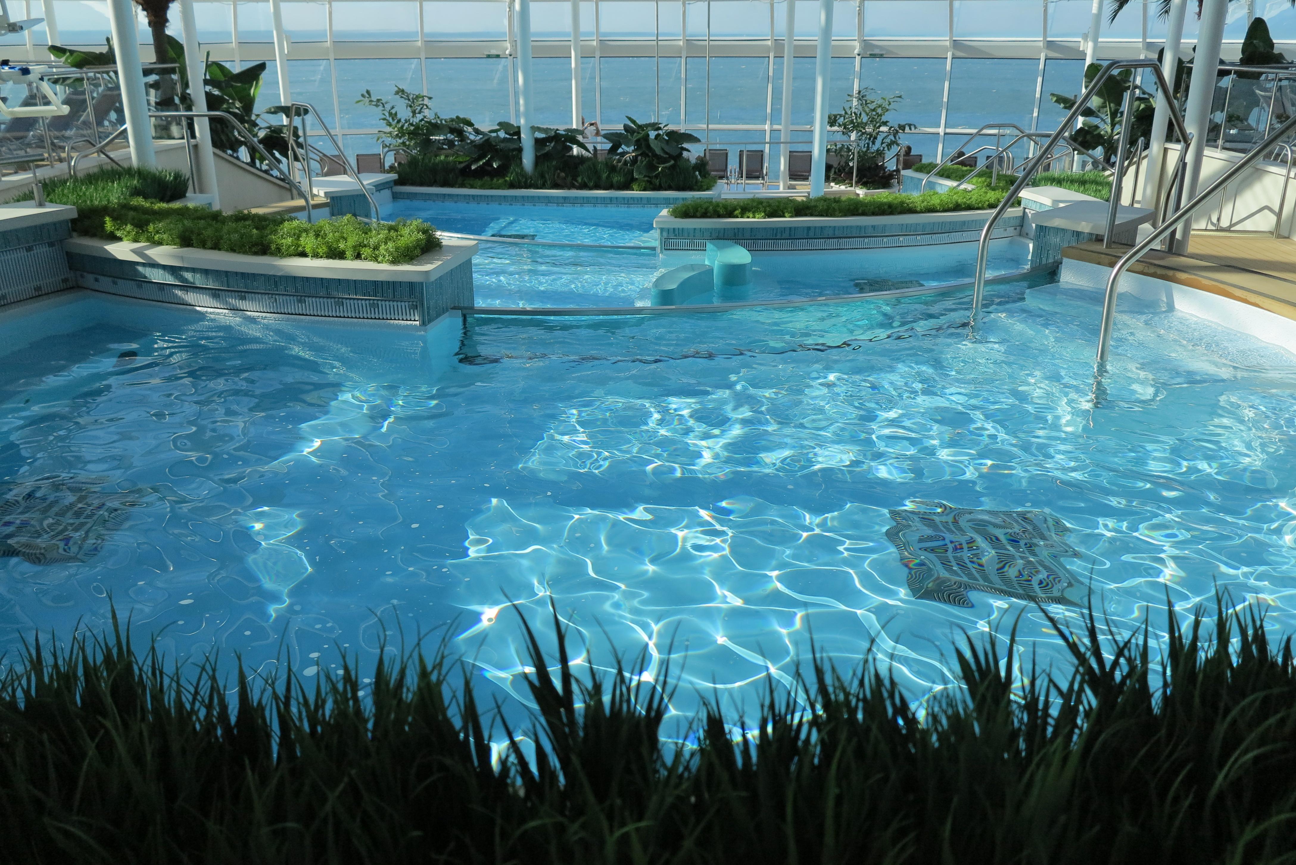 Water feature: Pools in the Solarium