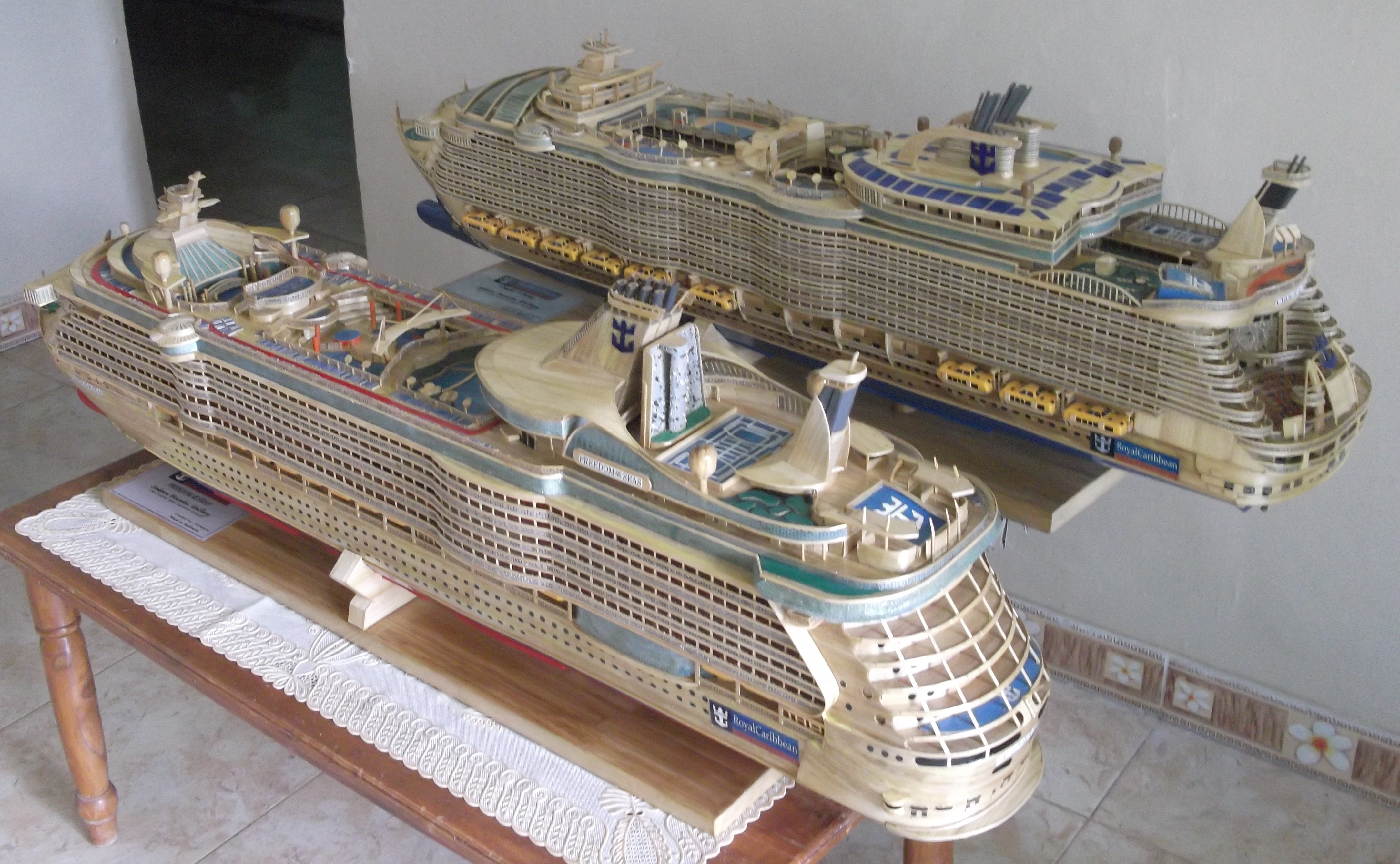 Wood you believe it? Oasis and Freedom of the Seas are crafted from bamboo (Picture: Humaini/Sakera Bambu)