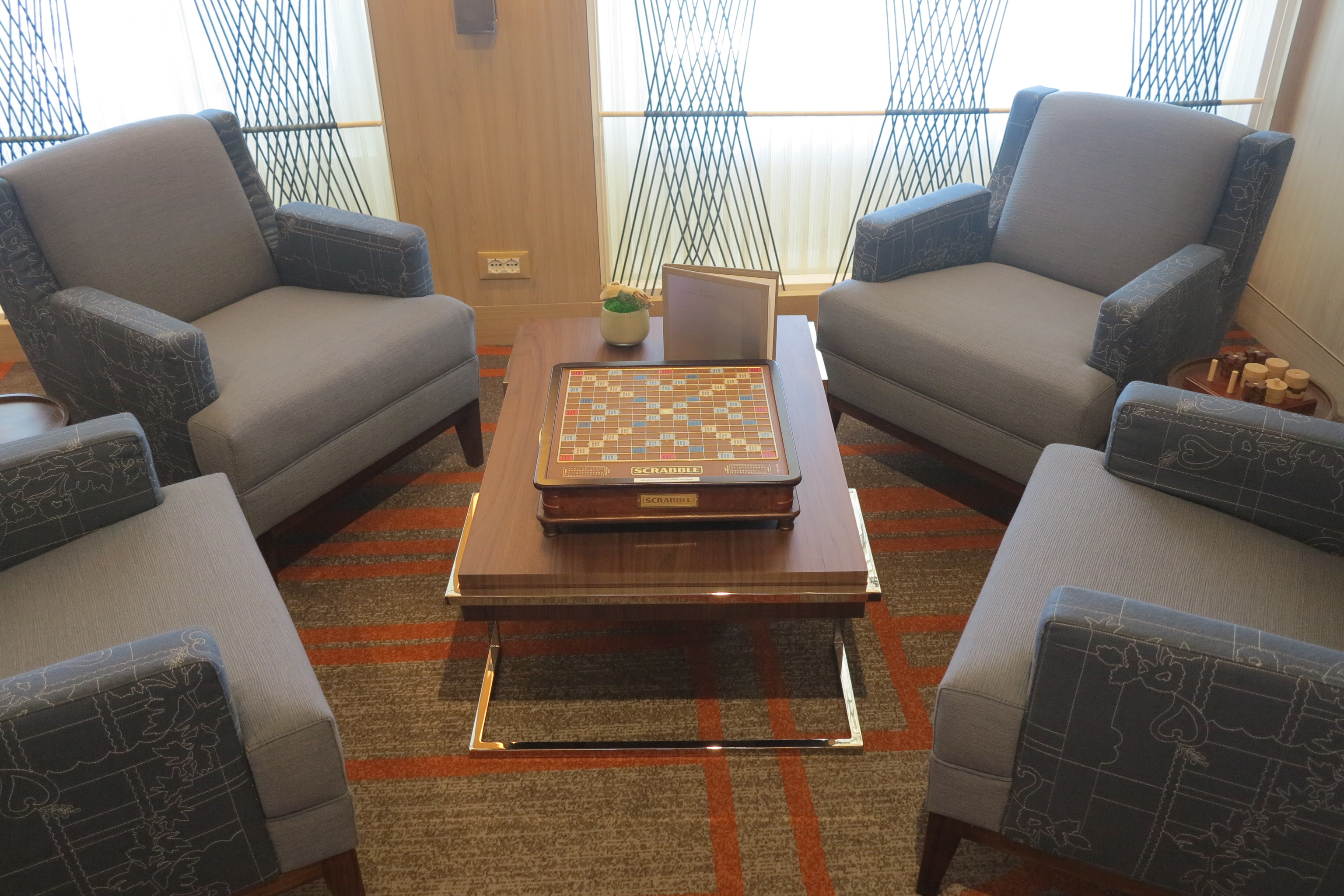 Anyone for Scrabble?: Board and electronic games are available in the Living Room