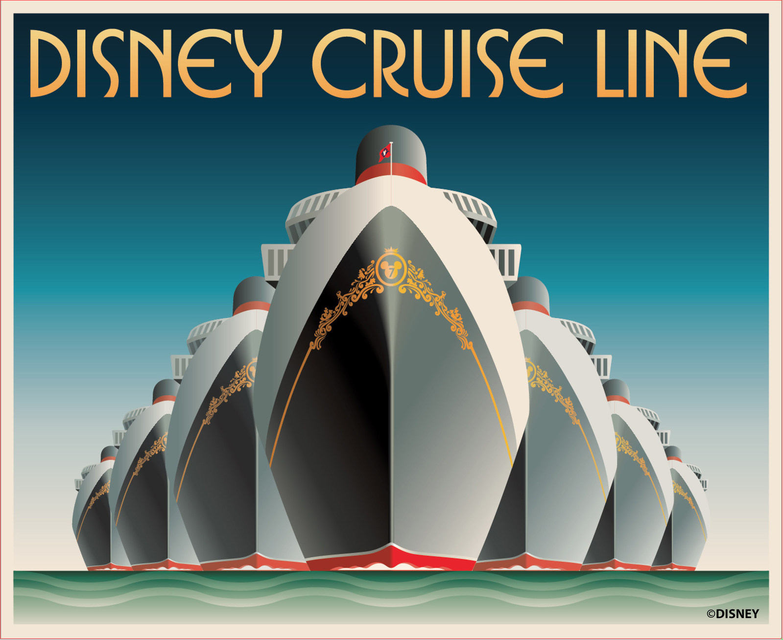 Disney Cruise Line Ship Poster